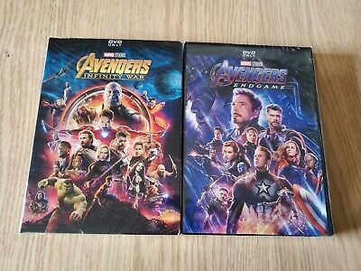 Avengers End Game and Avengers Infinity War 2-Movie DVD Bundle Free Shipping!