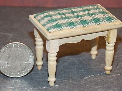 Dollhouse Miniature Double Bed White 1:12 one inch scale Y8 Dollys Gallery