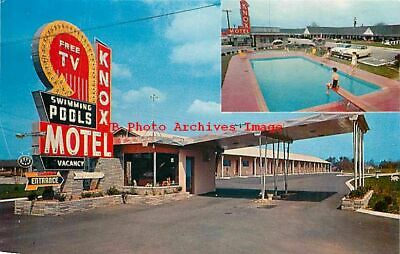 TN, Knoxville, Tennessee, Knox Motel, Pool, MultiView, Thompsons No S8054L2