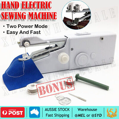 Mini Portable Handheld Sewing Machine hand held Stitch Home Clothes Cordless OZ