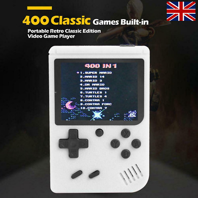 UK Retro Mini Handheld Video Game Console Gameboy Built-in 400 Classic Game Gift