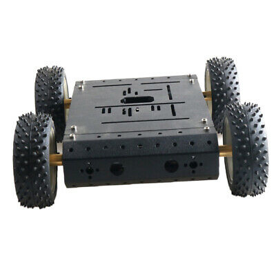 C3 4WD Smart Robot Car Chassis w/ DC12V Motor Silver Rubber Wheel DIY RC Toy