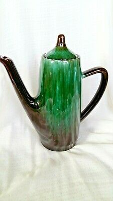 VINTAGE 50s 60s BLUE MOUNTAIN POTTERY COFFEE  POT BMP MCM MID-CENTURY CANADA GEM