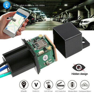 Car GPS Tracker Real Time Tracking Locator relais-forme Device 10-40V CJ720