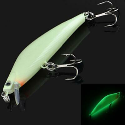 Plastic Night Fishing Lure Bass Crank Bait Hooks Minnow Fish Crankbait Tackle