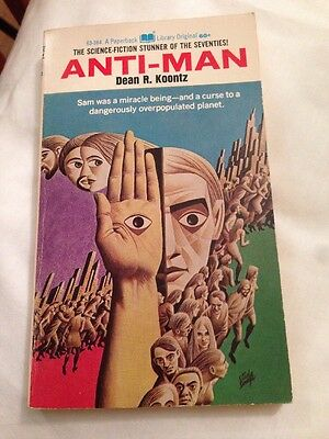 Anti Man by Dean Koontz The Night Window Author 1st Edition 1970