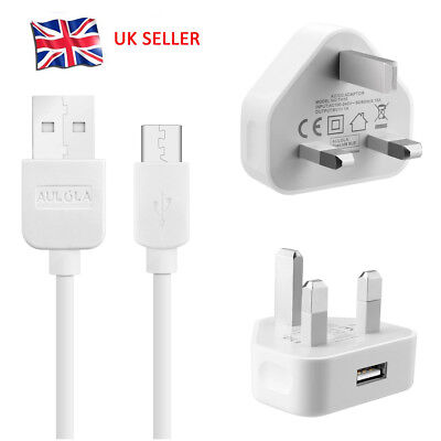Charger Plug + Micro USB Data Sync Cable For Samsung LG Android Phones Mobile