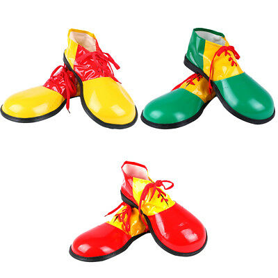 UK Adult Circus Clown Shoes Boots Cosplay Fancy Dress Halloween Party Costume