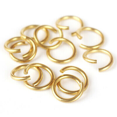 Strong Brass Open Jump Rings Unsoldered Loops Round 14mm 12mm