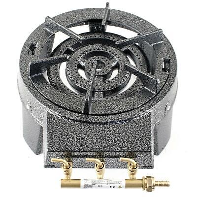9.5KW Triple Ring Burner Large Gas Boiling Ring Cast Iron Cooker Outdoor Stove