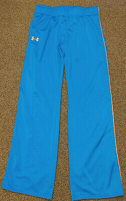 GIRLS UNDER ARMOUR YXL SWEAT TRACK PANTS blue CORAL ACTIVE WEAR SPORT