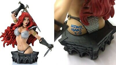 Red Sonja Arthur Art Adams SIGNED Women of Dynamite LE Art Bust ~ Only 600 Made!