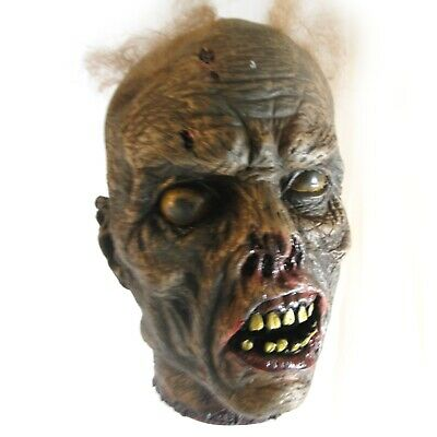 """Life-size Rotting Cut Off Zombie Head Halloween Party Haunted House Prop 10"""""""