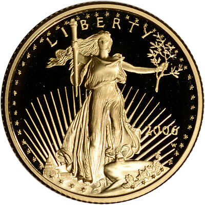 2006-W American Gold Eagle Proof 1/4 oz $10 - Coin in Capsule