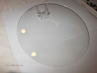 "NEW 11 3/4"" dia.LARGE CONVEX Clock Glass,Clear Round, for Clock Repair"