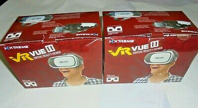 2 Xtreme VR Vue II Virtual Reality Viewer Headset Mobile Phones 3D Movies Games