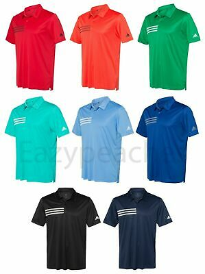 ADIDAS GOLF - Chest 3-Stripes Polo, Mens Sizes S-3XL, Climalite Sport Shirt