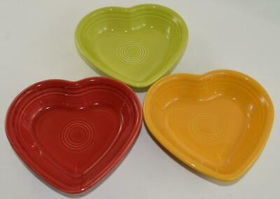 "Fiesta® SMALL HEART BOWLS (5"" wide) - Choice of Discontinued & Current Colors"