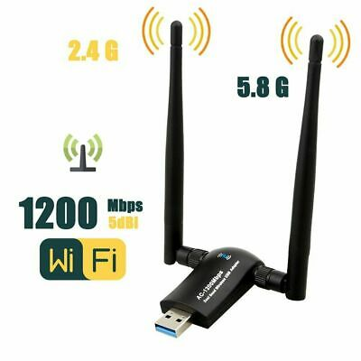 1200Mbps Dual Band USB WiFi Dongle Wireless LAN Adapter 802.11ac/a/b 5Ghz/2.4Ghz
