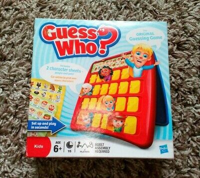 Guess Who The Original Guessing Game Which Is Unused Hasbro 2011 Kids Game