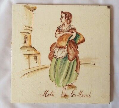 Charming Thynne Figurative 'Mats To Mend' Themed  6 Inch Tile