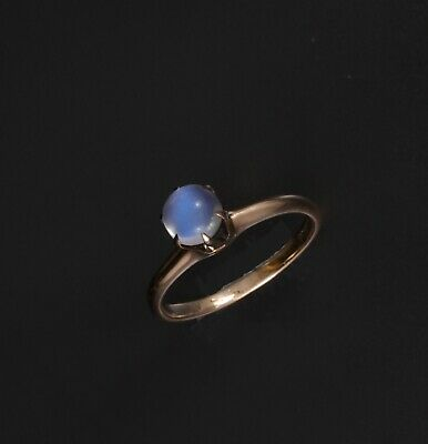 Antique Victorian Otsby & Barton 14K from Titanic Fame Moonstone Ring