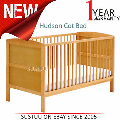 East Coast Hudson Cot Bed¦Baby/Kids Convertible bed With 3 Base Position¦Antique