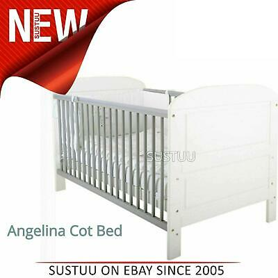 East Coast Angelina Cot Bed¦Baby/Kids cot With 2 Protective Teething Rails¦White