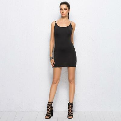 Women Summer Sexy Sling Vest Package Hip Mini Bodycon Party Dress W