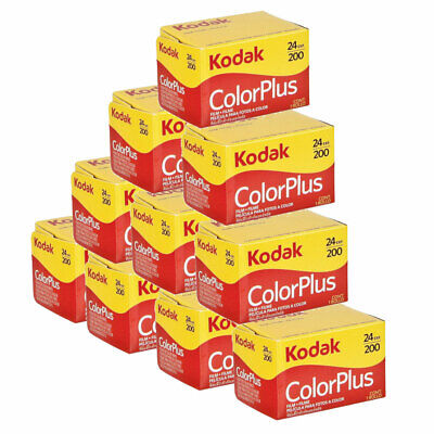10 x Kodak ColorPlus 200 Film Pack 135 (24 Exposures)