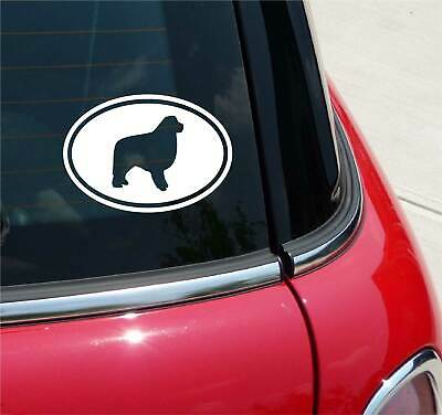 Euro Great Pyrenees Dog Graphic Decal Sticker Car Oval Not Two Colors