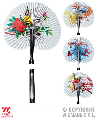 ORIENTAL PAPER FAN 23cm 1 of 4 styles ass. Accessory for Chinese Japanese Thai