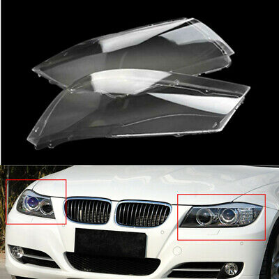 1pair Front Headlight Headlamp Plastic Clear Lens Cover For BMW E90//E91 2004-07