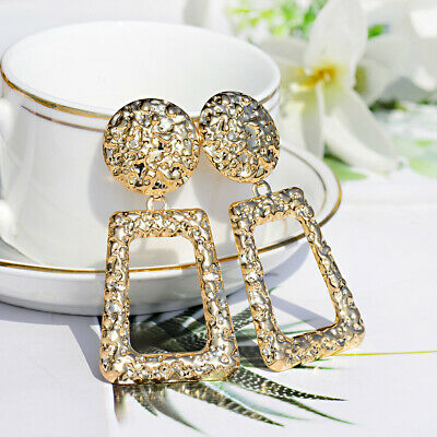 Fashion Women Charm Bohemia Geometric Gold Drop Earrings Wedding Jewelry Gift