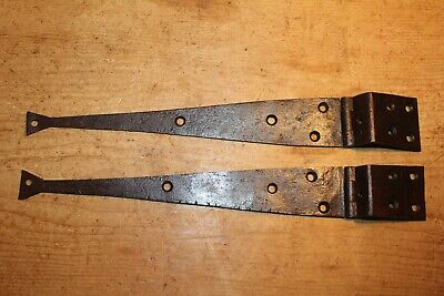 Pair of Antique Wrought Iron Hinges for Pine/Oak Blanket Box/Chest/Trunk/Coffer~