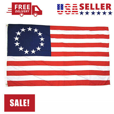 For 3' X 5' 3x5 Betsy Ross USA American 13 Star Flag Indoor Outdoor USA SELLER