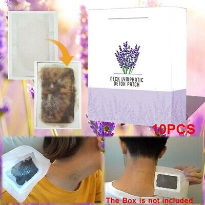 10 PCS Lavender Body Weight loss Fat Burner Health Care Neck Lymphatic Patch