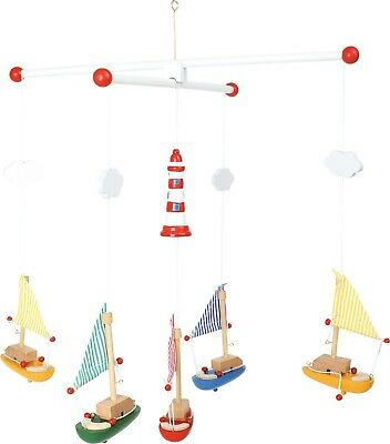 Wooden Sailboats and Lighthouse Mobile Nursery Ceiling Hanging Decoration Gift
