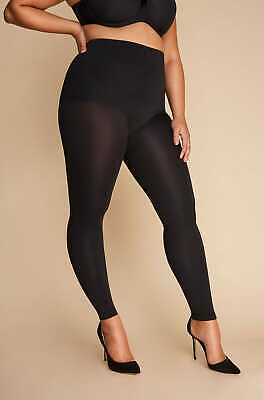 Yours Clothing Women's Plus Size Black High Waist Shaping Leggings