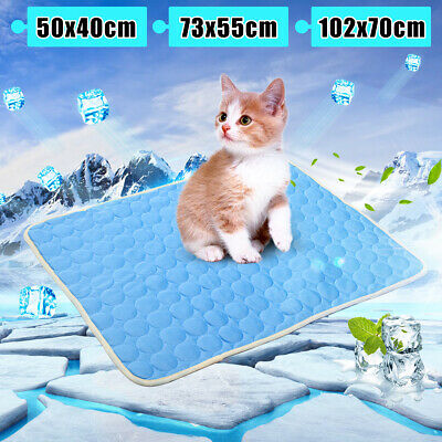 S/L/XL Soft Ice Silk Pet Lay Cool Cooling Mat Pad Bed For Summer Dog Cat Puppy
