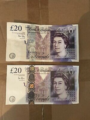 10x 20 £20 UK Note Realistic Pounds Prop Money PROP ACTUAL SIZE DOUBLE SIDED
