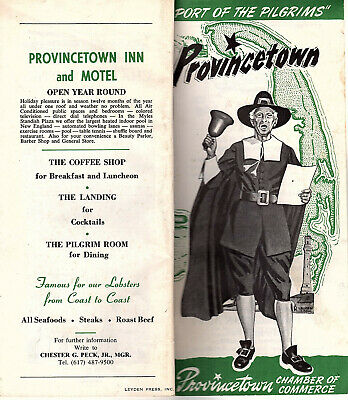 Provincetown Cape Cod Massachusetts Vintage 1971 Guide Photos Keyed Map Ads