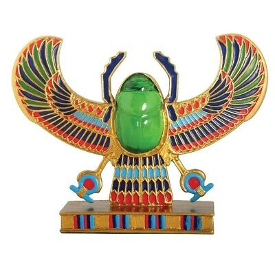Ancient Egyptian Colorful Winged Scarab Beetle Figurine Egypt Decoration New