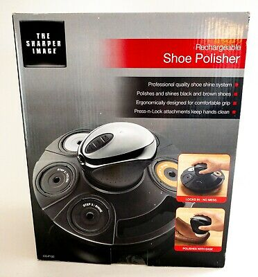 The Sharper Image Rechargeable Shoe Polisher Sealed