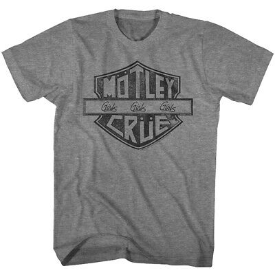 Motley Crue Girls Girls Girls Sign Adult T Shirt Heavy Metal Music