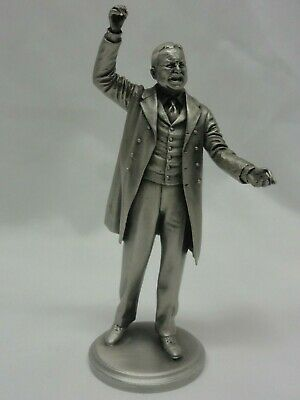 US PRESIDENT Theodore Roosevelt COLLECTIBLE Pewter  STATUE Lance  from RARE set
