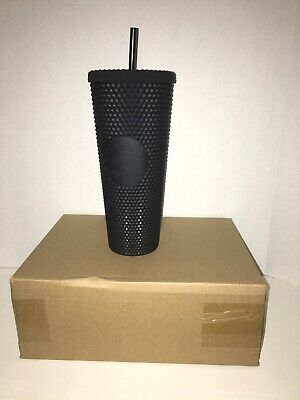 NEW SOLD OUT FALL 2019 STARBUCKS MATTE BLACK STUDDED TUMBLER CUP 24oz HOLIDAY