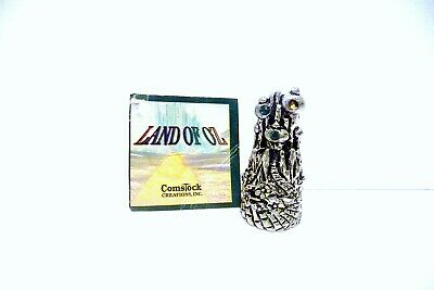 """Thimble Pewter Comstock Land Of Oz's """"Emierald  City"""" W/Crystals"""