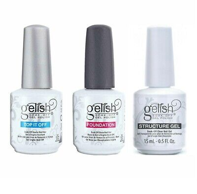 New Gelish Harmony Structure Gel Top it off and Base Foundation Coat Gel Polish