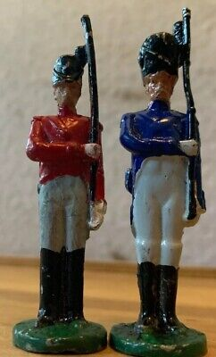 Vintage Toy Soldiers Troopers Antique Hand Painted Solid Cast Collectors Toys